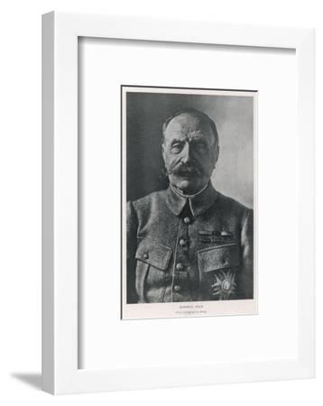 Ferdinand Foch French Military Commander in World War One--Framed Photographic Print