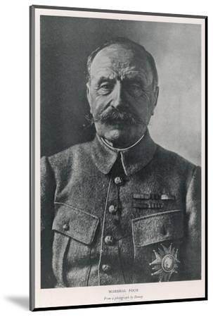 Ferdinand Foch French Military Commander in World War One--Mounted Photographic Print