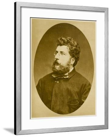Georges Bizet French Musician, Composer of 'Carmen' and Others, in 1874--Framed Photographic Print