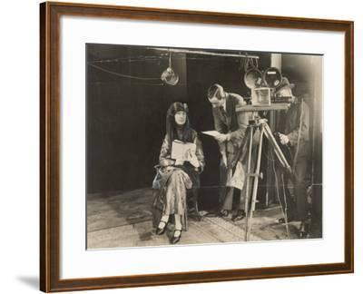 Edith Sitwell Recording--Framed Photographic Print