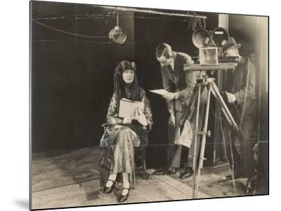 Edith Sitwell Recording--Mounted Photographic Print