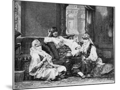 Group of Girls of the Harem, Port Said--Mounted Photographic Print