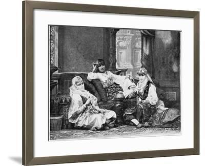Group of Girls of the Harem, Port Said--Framed Photographic Print