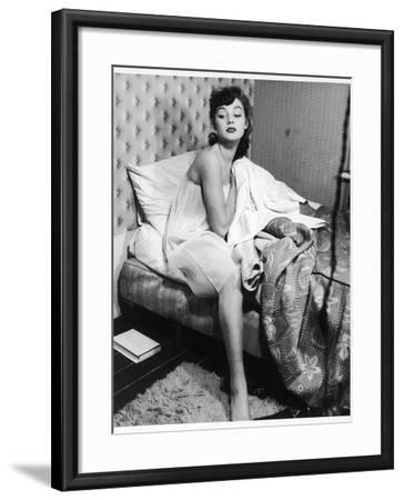 Getting Out of Bed 1950s--Framed Photographic Print
