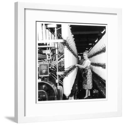 Female Operator, Howe Bridge, Lancashire-Henry Grant-Framed Photographic Print