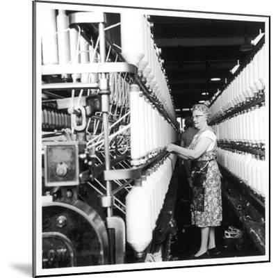Female Operator, Howe Bridge, Lancashire-Henry Grant-Mounted Photographic Print