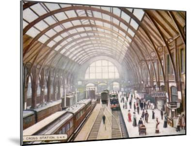 London Kings Cross--Mounted Photographic Print