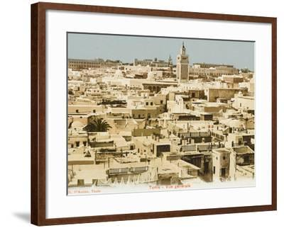 A General Panoramic View of the Rooftops of Tunis, Tunisia--Framed Photographic Print