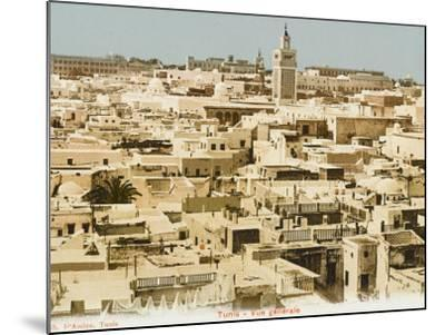 A General Panoramic View of the Rooftops of Tunis, Tunisia--Mounted Photographic Print