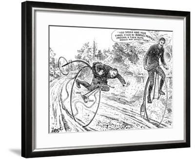 Advertisement for Bown's 'Perfect' Process for Bicycle Tyres--Framed Photographic Print