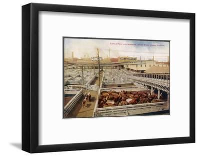 Chicago Stockyards--Framed Photographic Print