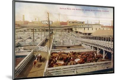 Chicago Stockyards--Mounted Photographic Print