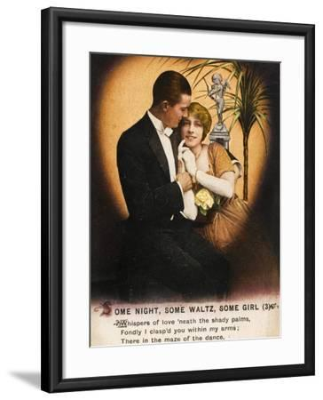 Couple Waltz 1914--Framed Photographic Print