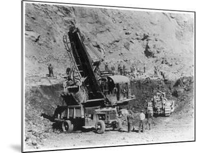 Construction of Hoover Dam--Mounted Photographic Print