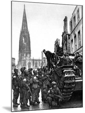 British and American Troops in Munster, Second World War--Mounted Photographic Print