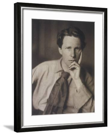 Rupert Brooke English Writer, in 1913--Framed Photographic Print
