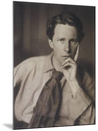 Rupert Brooke English Writer, in 1913--Mounted Photographic Print