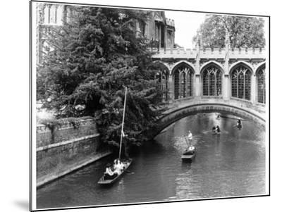 Punting at Cambridge-Henry Grant-Mounted Photographic Print