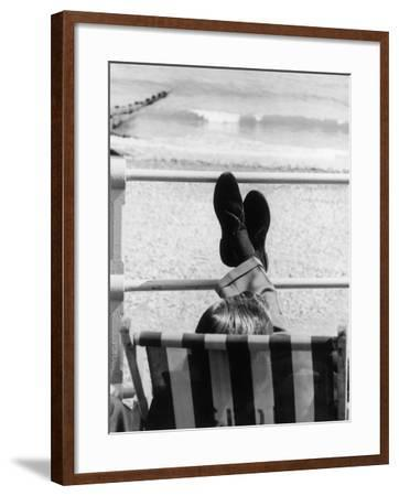 Relaxing in a Deckchair--Framed Photographic Print
