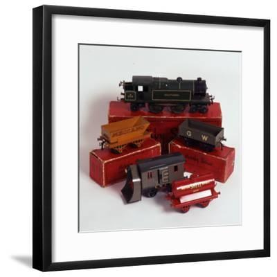Set of Hornby Toy Trains and Rolling Stock--Framed Photographic Print