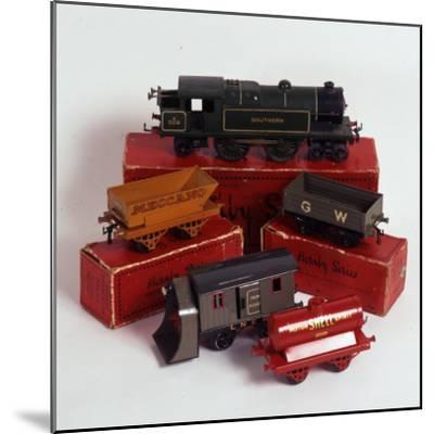 Set of Hornby Toy Trains and Rolling Stock--Mounted Photographic Print