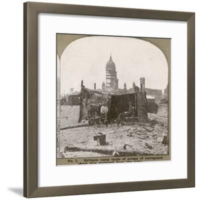 San Francisco - Refugees Build their Own Refuge Among the Ruins--Framed Photographic Print