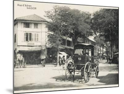 Adran Street - Saigon with Horse Cab--Mounted Photographic Print