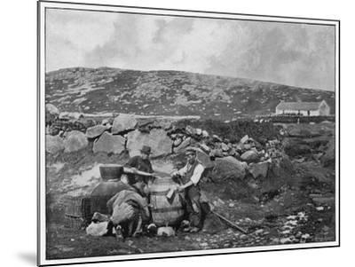 An Illicit Still in Donegal (Ireland)--Mounted Photographic Print