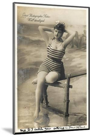 Bathing Beauty--Mounted Photographic Print
