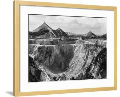China Clay Quarry--Framed Photographic Print