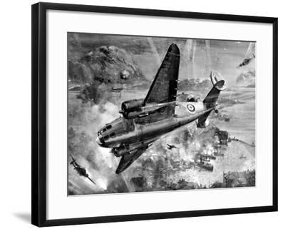 Lockheed 'Hudsons' Bombing Aalesund; Second World War, 1941--Framed Photographic Print