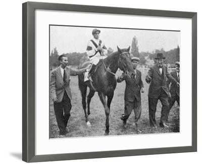 Nearco after Winning Grand Prix De Paris--Framed Photographic Print