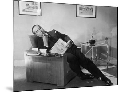 Man Relaxing with Pipe--Mounted Photographic Print