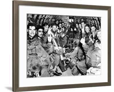 Men of the British First Airborne Division in a Glider; Second World War--Framed Photographic Print