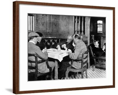 Recreations on Board the Empress of Ireland, a Game of Cards--Framed Photographic Print
