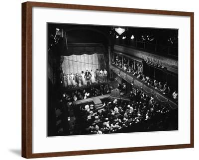 Old Time Music Hall Show--Framed Photographic Print