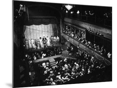Old Time Music Hall Show--Mounted Photographic Print