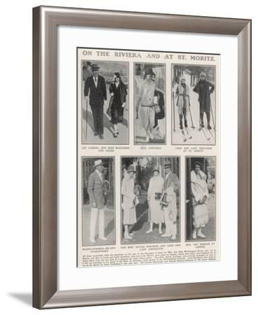 On the Riviera and at St. Moritz--Framed Photographic Print
