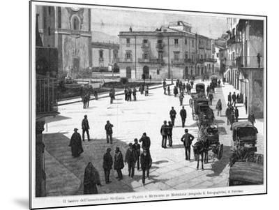 Piazza E Municipio at Monreale, at the Time of the 1894 Insurrection--Mounted Photographic Print