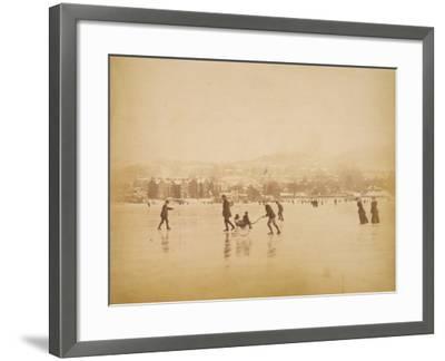 Skating on Windermere--Framed Photographic Print