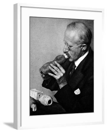 Sir Richard Paget, Speaking Through an Artifical Throat--Framed Photographic Print