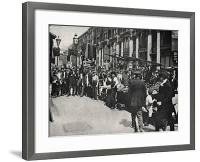 Petticoat Lane Market, East End of London-Peter Higginbotham-Framed Photographic Print