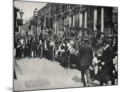 Petticoat Lane Market, East End of London-Peter Higginbotham-Mounted Photographic Print