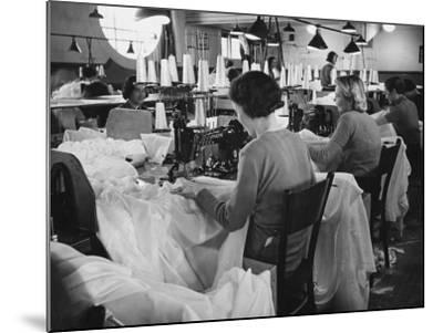 Parachute Factory WWII-Robert Hunt-Mounted Photographic Print