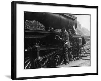 Locomotive Maintenance--Framed Photographic Print
