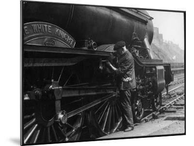 Locomotive Maintenance--Mounted Photographic Print