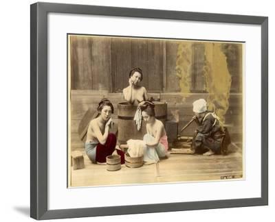Japanese Home Bath--Framed Photographic Print