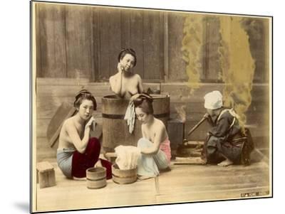 Japanese Home Bath--Mounted Photographic Print