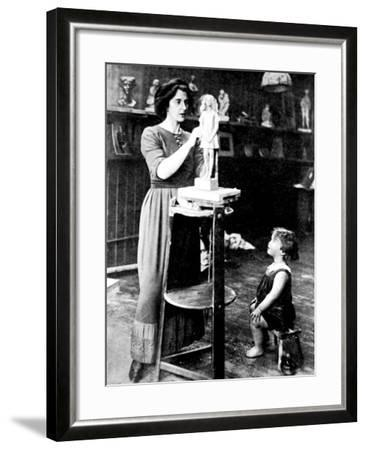 Kathleen Bruce and Peter Scott, 1912--Framed Photographic Print