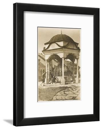 Public Water Fountain - Bosnia - Banjaluka--Framed Photographic Print